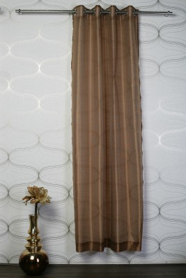Atria Polyester Red, Yellow Solid Eyelet Door Curtain