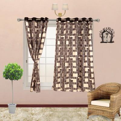 I Catch Blends Black Checkered Curtain Window Curtain