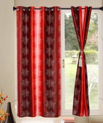 JJ DESIGN Polyester Multicolor Printed Curtain Window & Door Curtain