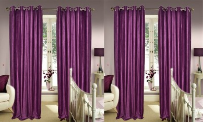JBG Home Store Polyester Purple Plain Eyelet Door Curtain