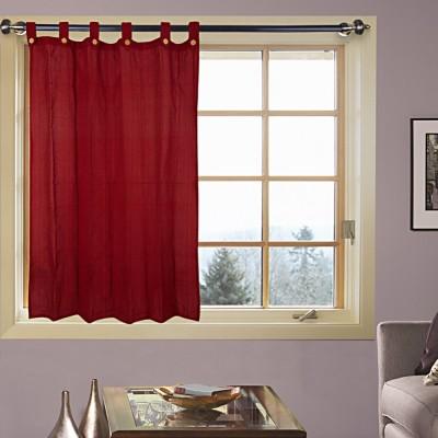 Kings Polycotton Maroon Printed Eyelet Door Curtain