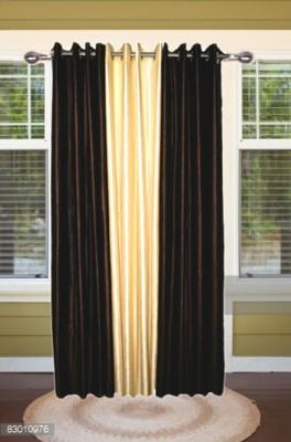 shoppeholics Polyester Brown Plain Curtain Door Curtain
