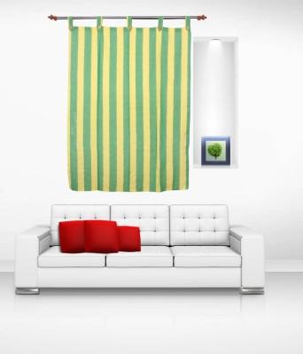 Lukluck Cotton Green Abstract Ring Rod Window Curtain