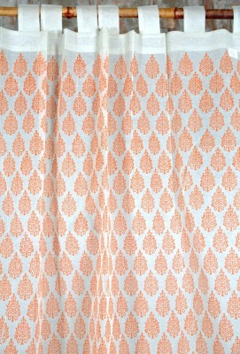 Ocean Homestore Cotton Pink Floral Curtain Door Curtain