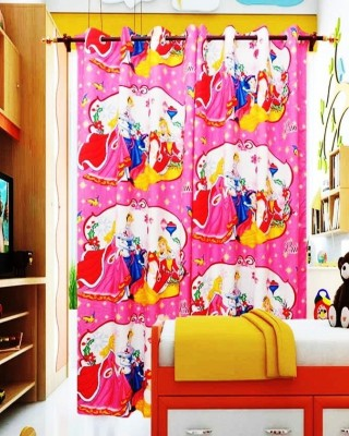 The Great Indian Shop Polyester Pink Printed Curtain Door Curtain