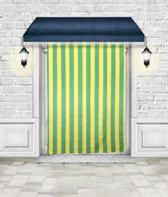 Lukluck Cotton Green Abstract Ring Rod Door Curtain