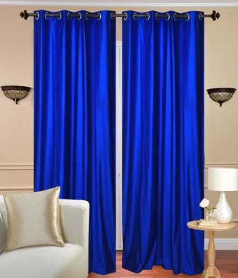 Canadian Icon Polycotton Multicolor Plain Eyelet Door Curtain
