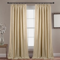 Deco Window Polyester Beige Solid Rod pocket Door Curtain(229 cm in Height, Single Curtain)