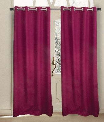House This Cotton Mehroon Motif Eyelet Window Curtain