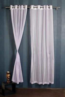 Mondeo Polyester Lavender Motif Eyelet Door Curtain