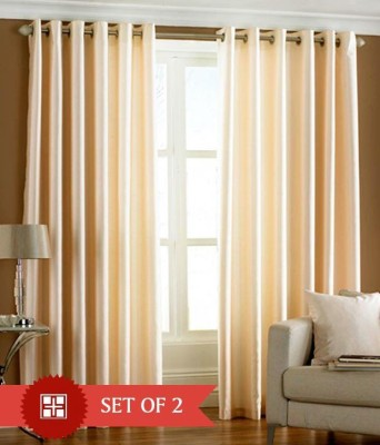 New Royal Polyester Multi-Colour Plain Eyelet Door Curtain