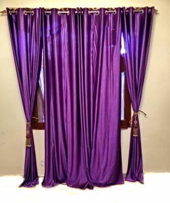 SHC Polyester Purple Solid Eyelet Door Curtain