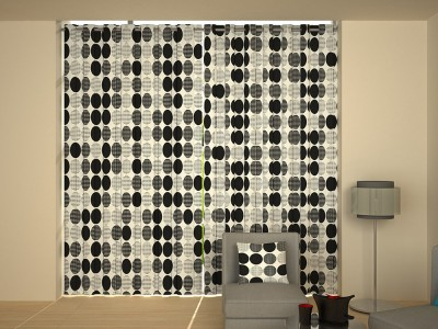 House This Cotton Black Polka Eyelet Window Curtain