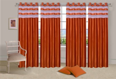 Ville Style Polyester Rust Solid Eyelet Long Door Curtain