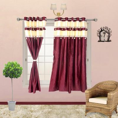 I Catch Blends Purple Plain Curtain Window Curtain