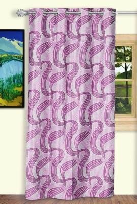 Dreaming Cotton Polyester Purple Geometric Curtain Door Curtain