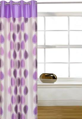 Shopcrats Polyester Multicolor Paisley Rod pocket Window & Door Curtain