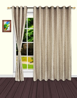 S9home by Seasons Polyester Grey Geometric Eyelet Door Curtain