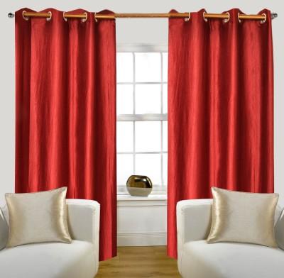 Glamora Interiors Polyester Maroon Plain Curtain Window & Door Curtain