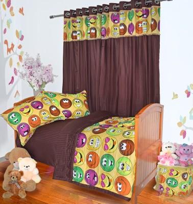 Aurraa Cotton Multicolor Striped Eyelet Door Curtain
