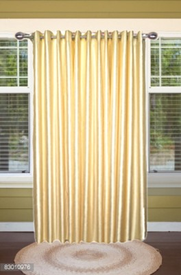 shoppeholics Polyester Off White Plain Curtain Door Curtain