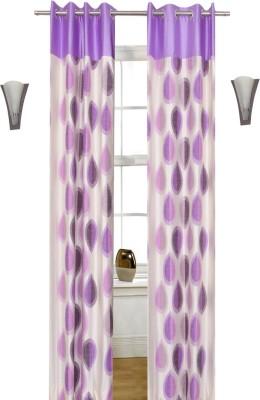 Shopcrats Polyester Multicolor Polka Curtain Window & Door Curtain