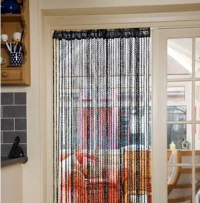 Ramcha Polyester Black Plain Rod pocket Door Curtain