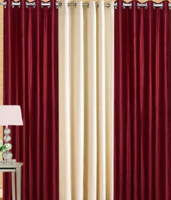 ALAGH FASHIONS Polyester Multicolor Plain Eyelet Door Curtain