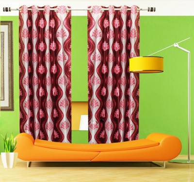 Home Fashion Gallery Polyester Multicolor Printed Eyelet Long Door Curtain