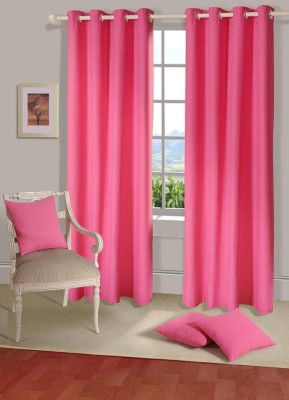 House This Cotton Pink Floral Eyelet Door Curtain