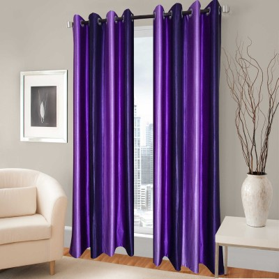 Rayon Casa Polyester Wine Plain Eyelet Long Door Curtain