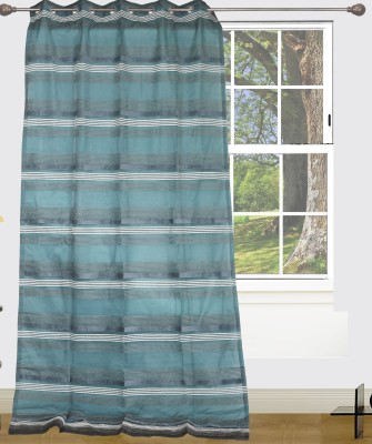 Edit One Polyester Multicolor Striped Rod pocket Window & Door Curtain