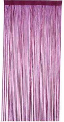 R home Viscose Purple Plain Rod pocket Window & Door Curtain