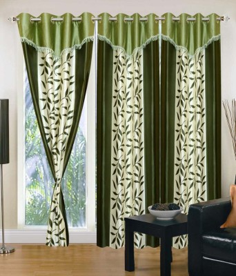 Ech Oly Polyester Multicolor Printed Eyelet Long Door Curtain
