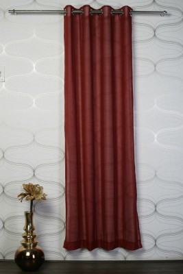 Monaco Polyester Maroon Floral Eyelet Door Curtain