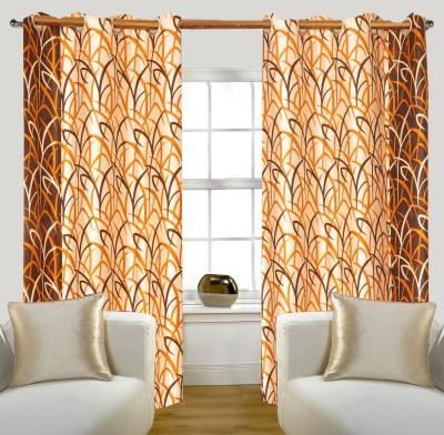 Glamora Interiors Polyester Brown Printed Curtain Window & Door Curtain