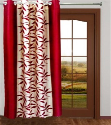 profabhome Polyester Multicolor Printed Eyelet Door Curtain