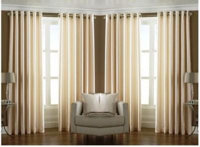 SJK Polyester White Plain Eyelet Door Curtain