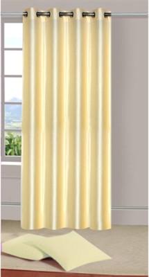 Sai Arpan Polyester Cream Plain Eyelet Door Curtain