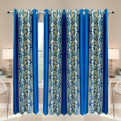 White Wave Polyester Multicolor Solid Eyelet Door Curtain