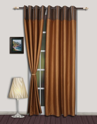 S9home by Seasons Polyester Brown Eyelet Door Curtain