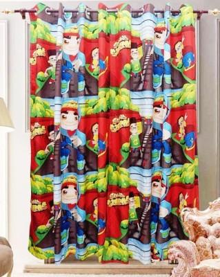 The Great Indian Shop Polyester Multicolor Cartoon Curtain Door Curtain
