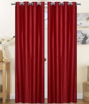 Shop Since Polyester Red Floral Eyelet Door Curtain