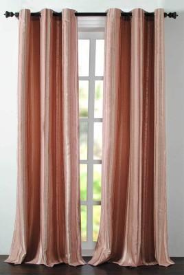 Deco Essential Polyester Burn Rose Plain Eyelet Door Curtain
