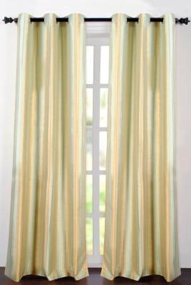 Deco Essential Polyester Sea Foam Plain Eyelet Window Curtain