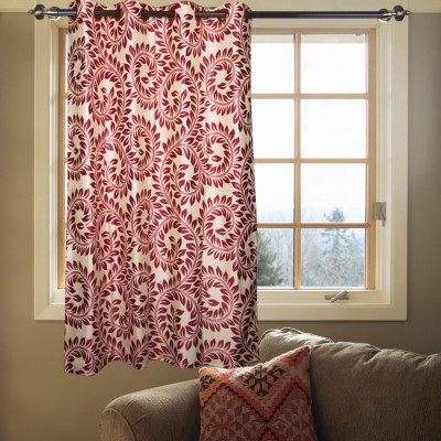 Kings Polycotton Multicolor Floral Tab Top Window Curtain