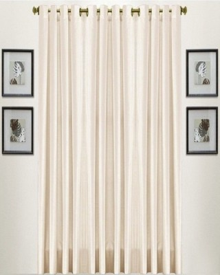 Thiwas Polyester Multicolor Plain Eyelet Long Door Curtain