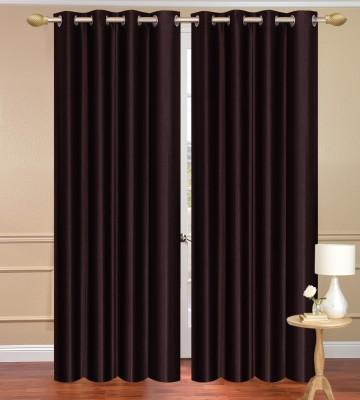 Daddyhomes Polyester Black Plain Curtain Door Curtain