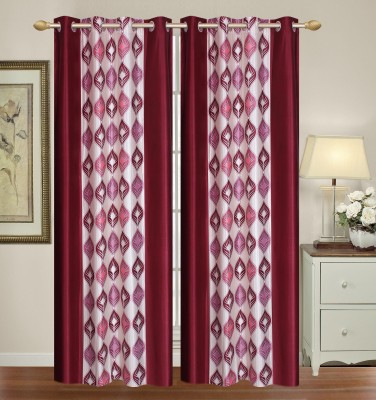 HomeTex Polyester Maroon Window Valance
