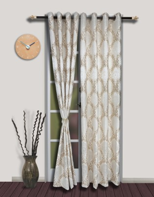 S9home by Seasons Polyester White Motif Eyelet Door Curtain